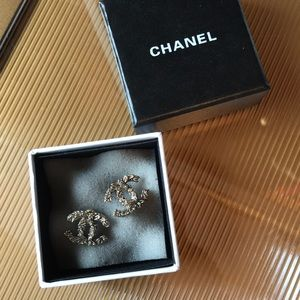Bronze Floral Classic Chanel CC Earrings